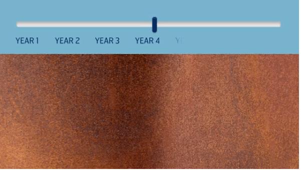 màu thép corten năm 4